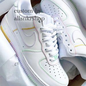 Nike womens air force 1 low custom pastel